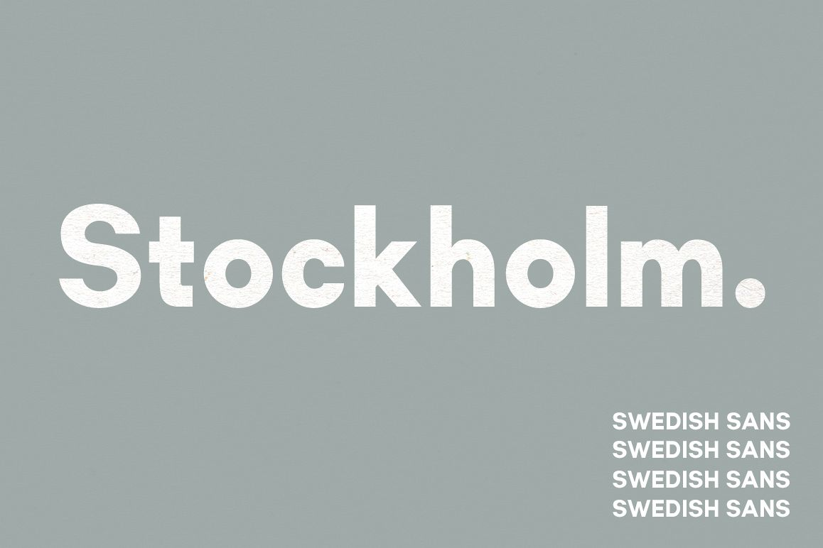 Stockholm | Two-Weight Font Family example image 1