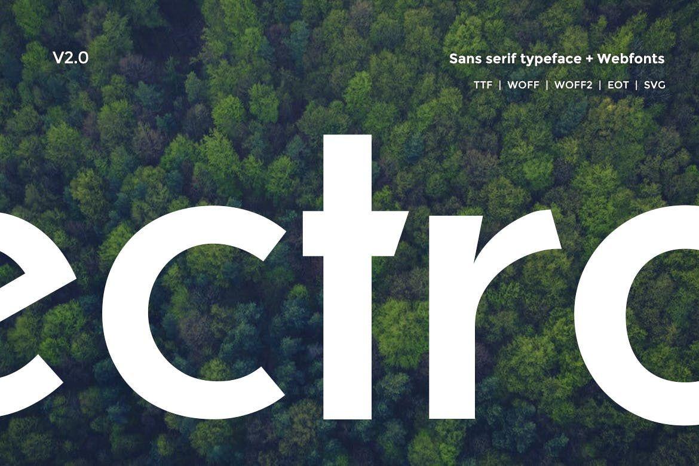 Electro Sans Typeface V2.0 example image 1