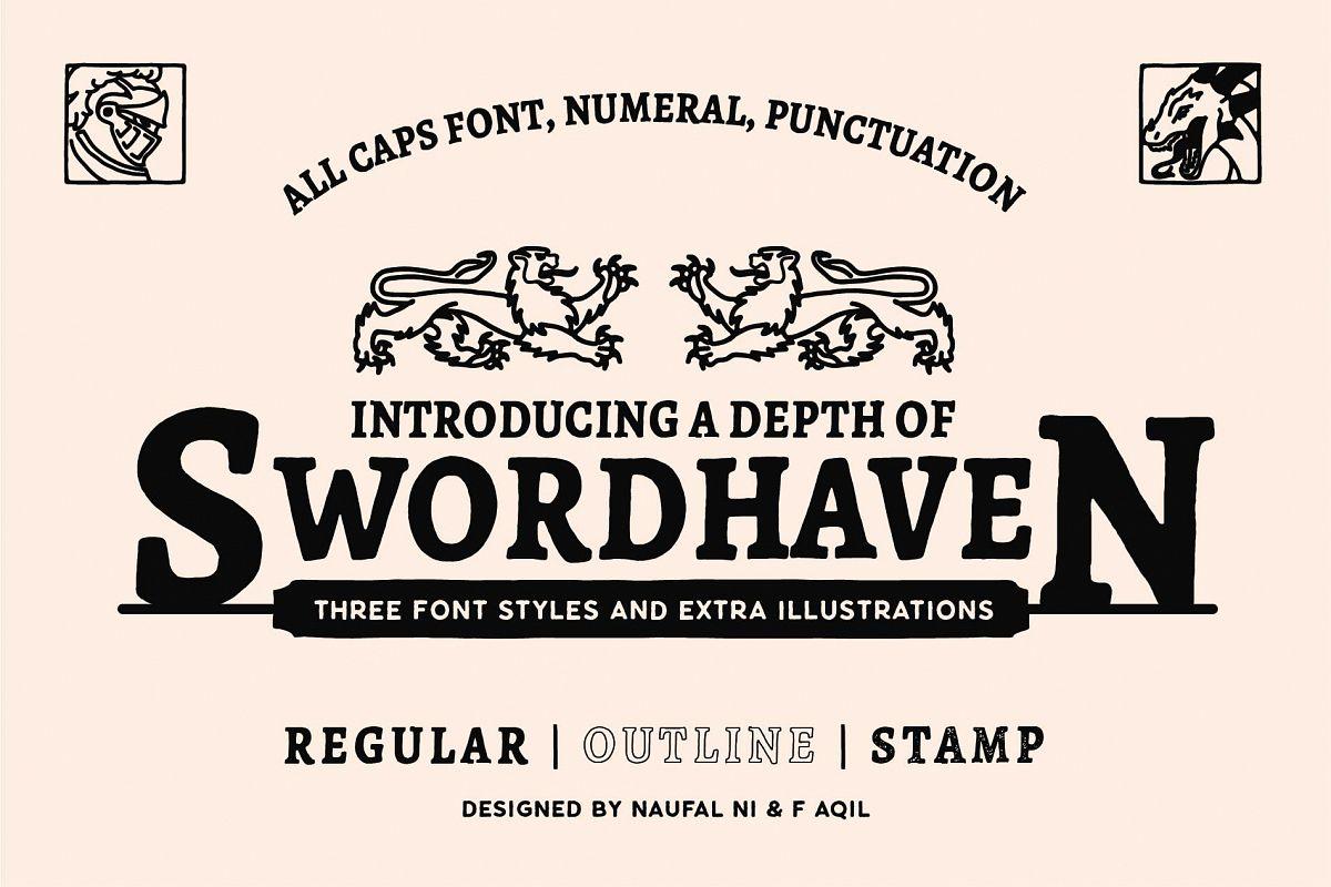 SWORDHAVENEN Font example image 1