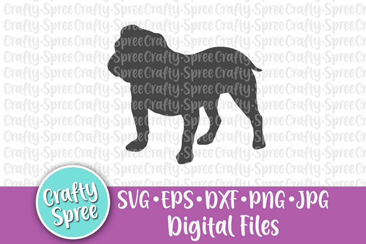 Bulldog SVG DXF Design Element Sublimation example image 1
