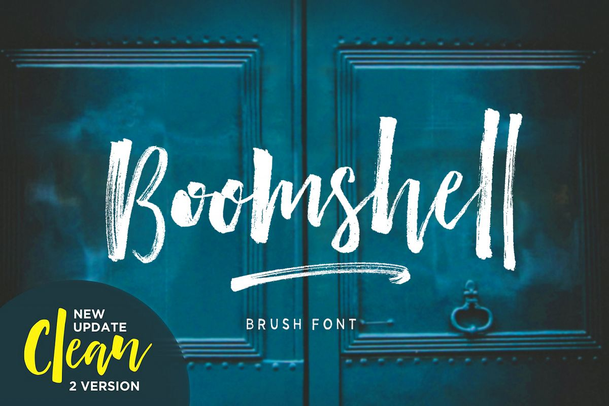 Boomshell Brush Font example image 1