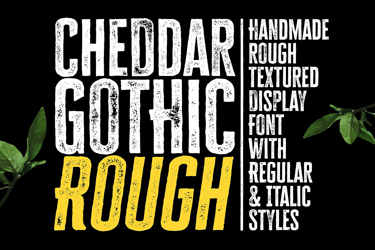 Cheddar Gothic Rough Font example image 1