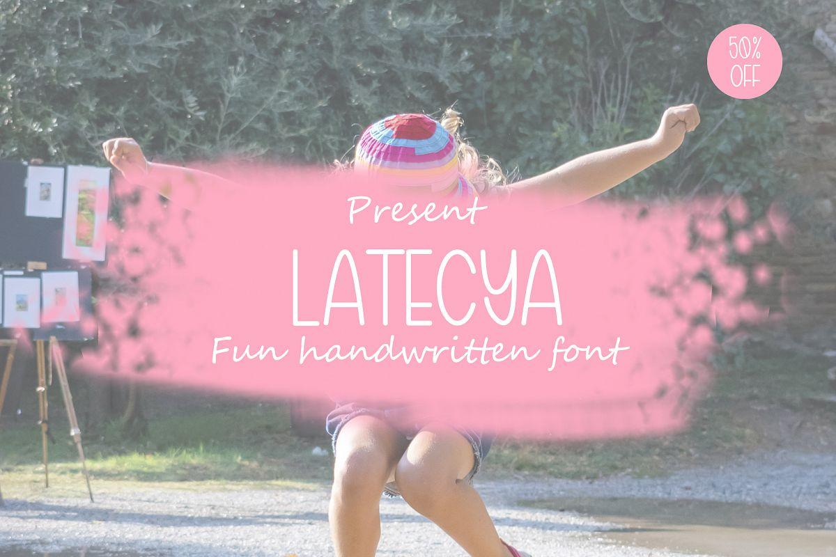 Latecya Handwritten Font example image 1