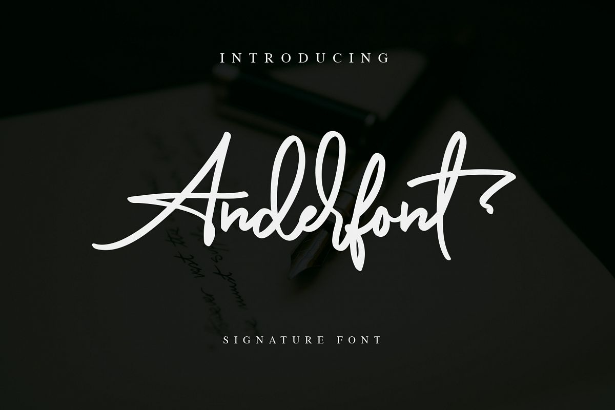 Anderfont - a Signature Font example image 1