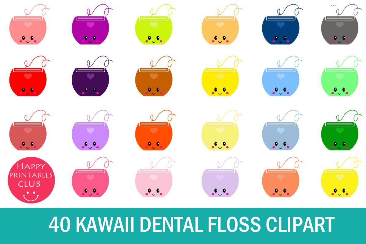 40 Kawaii Dental Floss Clipart- Dental Floss Clipart Images example image 1