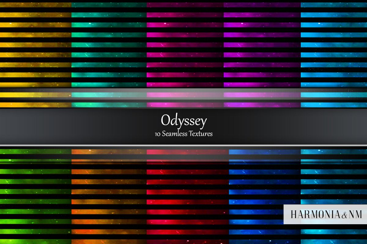 Odyssey 10 Seamless Galaxy Striped Textures example image 1