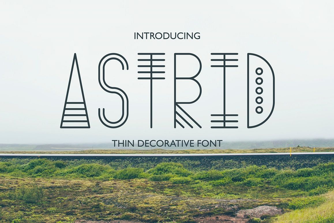Astrid - Thin Decorative Font example image 1