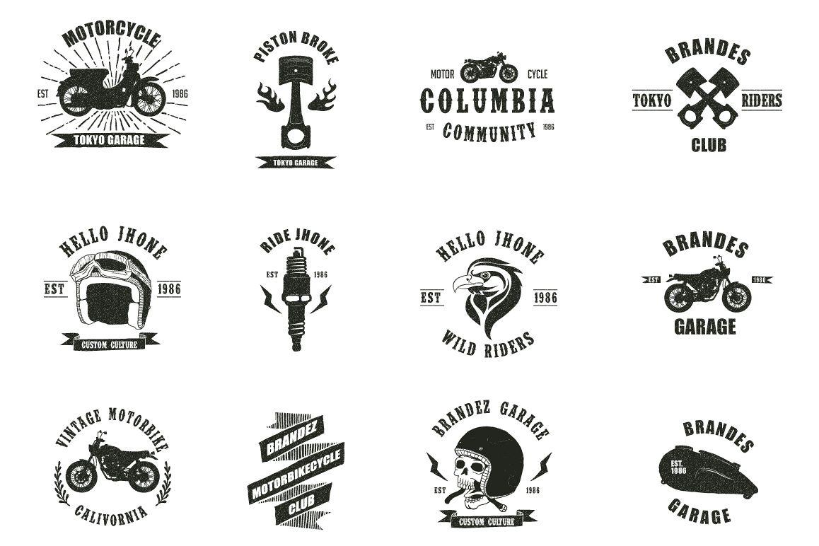 Vintage Badges Motorcycle example image 1