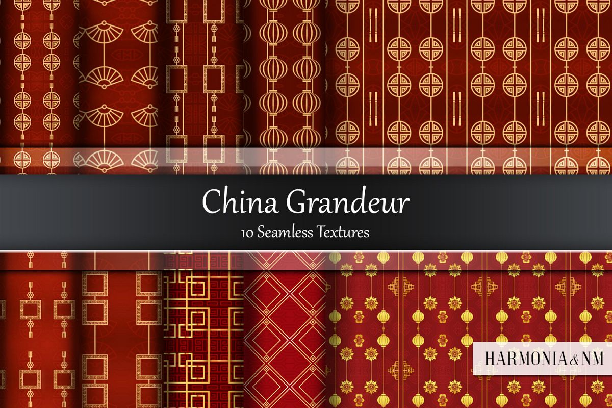China Grandeur 10 Seamless Textures example image 1
