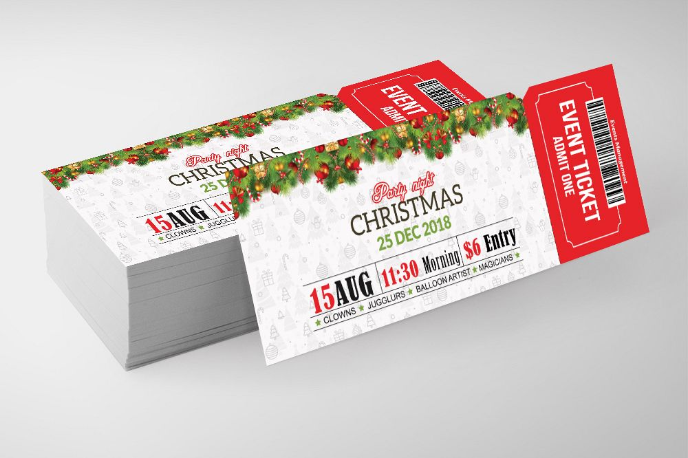 Christmas Party Event Ticket example image 1