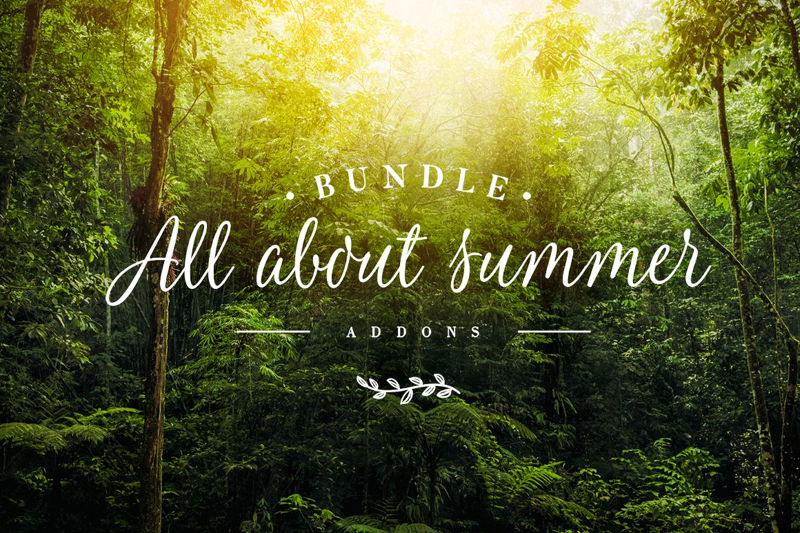 Addons Bundle - All About Summer example image 1