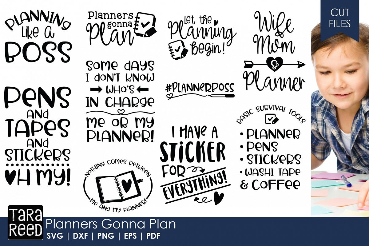 Planners Gonna Plan - Planning SVG Files for Crafters example image 1