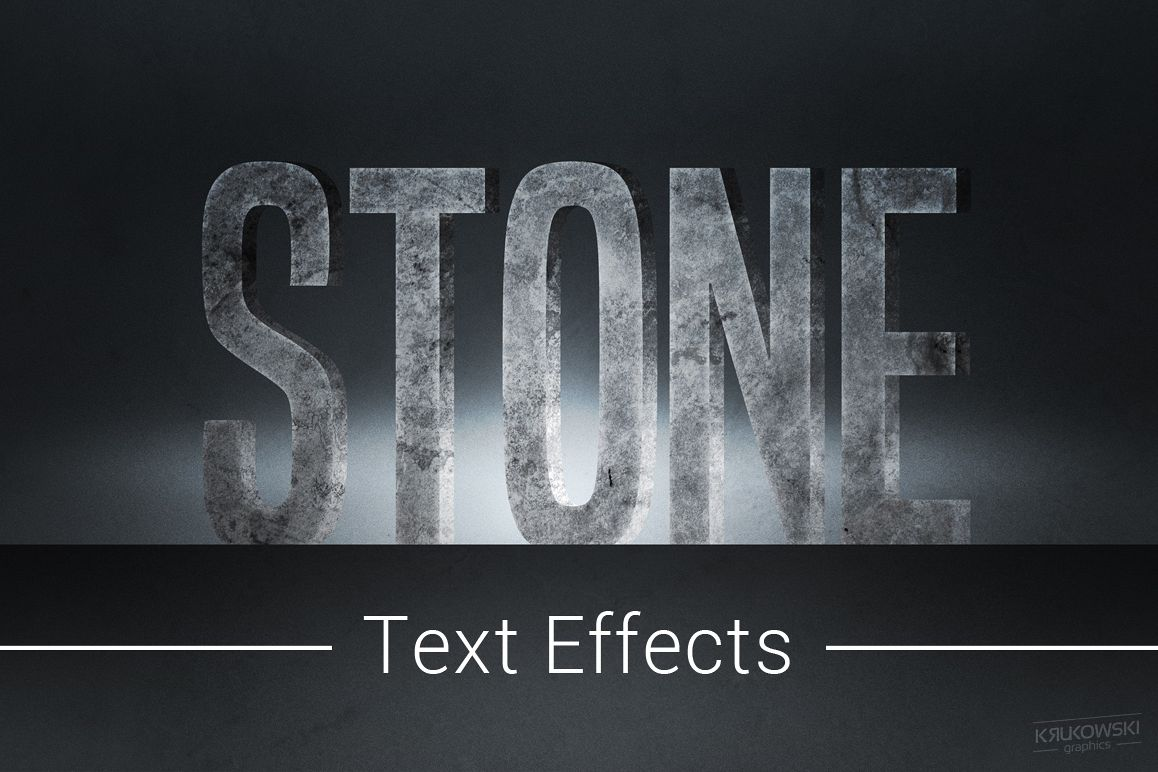 Stone Text Effects Mockup example image 1