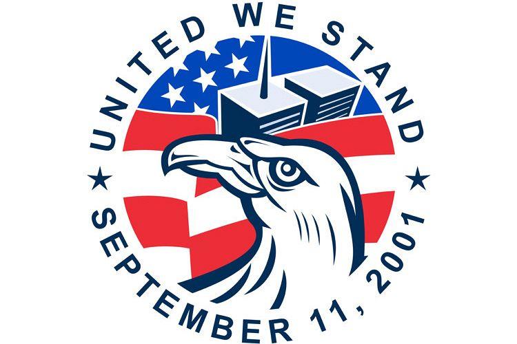 9-11 Eagle Head World Trade Center American Flag example image 1