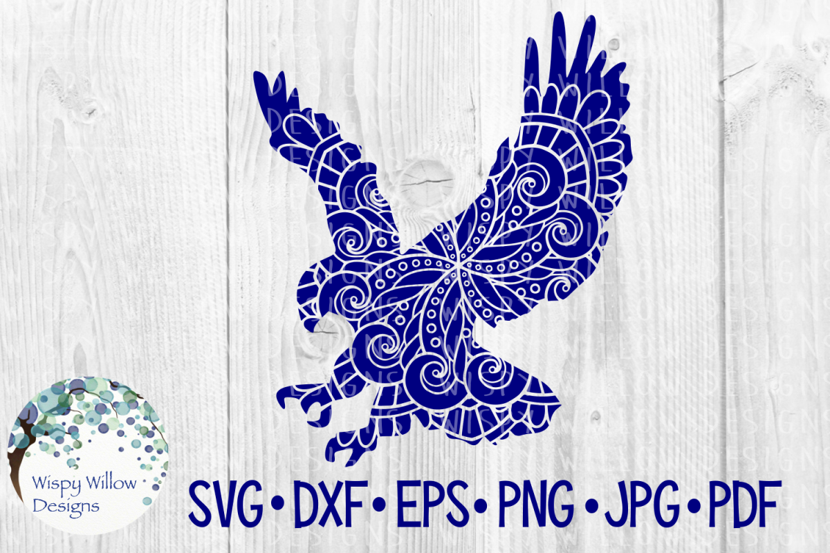 25c609dfdfdbc Eagle Mandala, Animal Mandala, Zentangle SVG Cut File example image 1