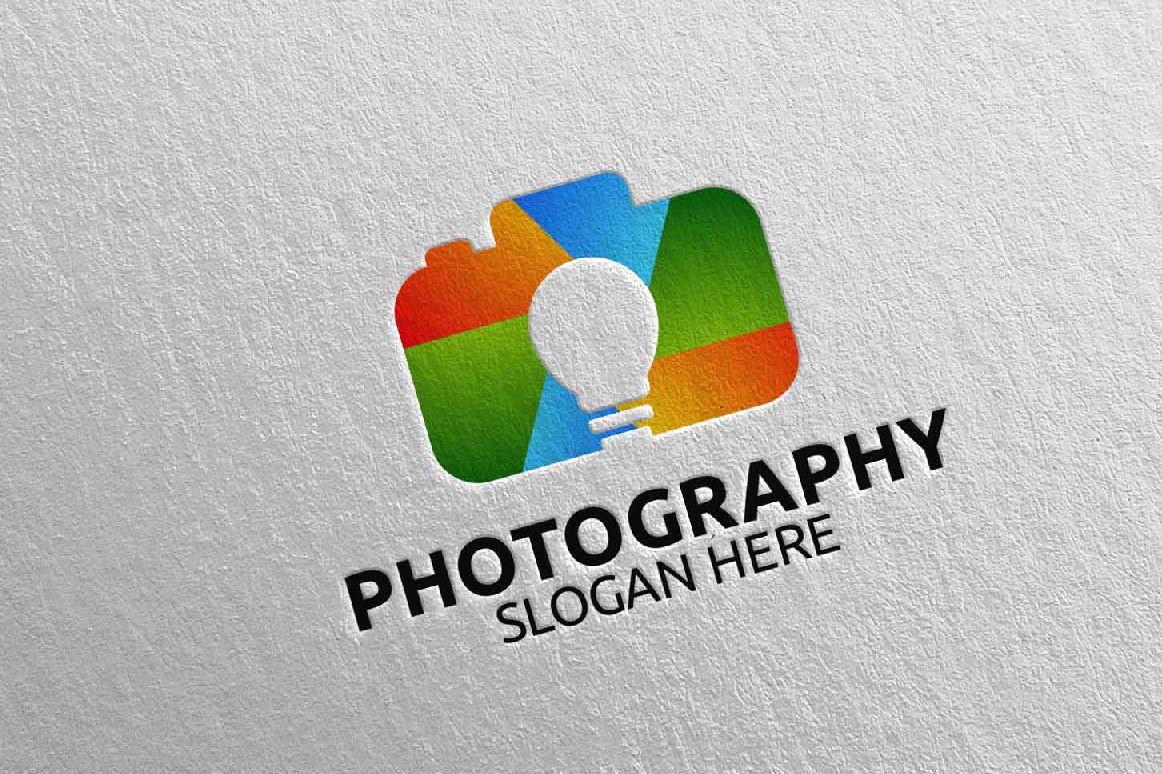 Abstract Camera Photography Logo 11 example image 1
