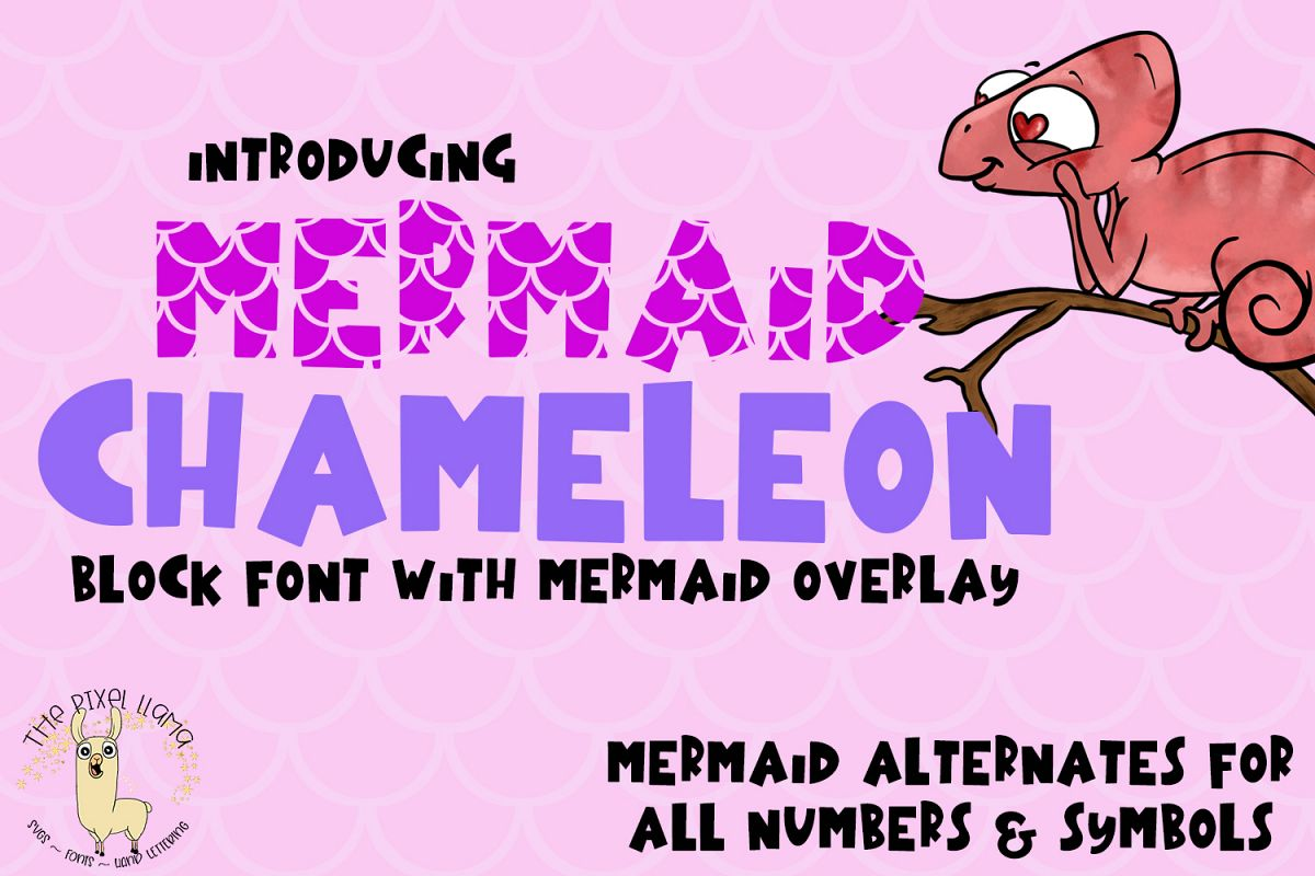 Mermaid Chameleon A Block Font With Mermaid example image 1