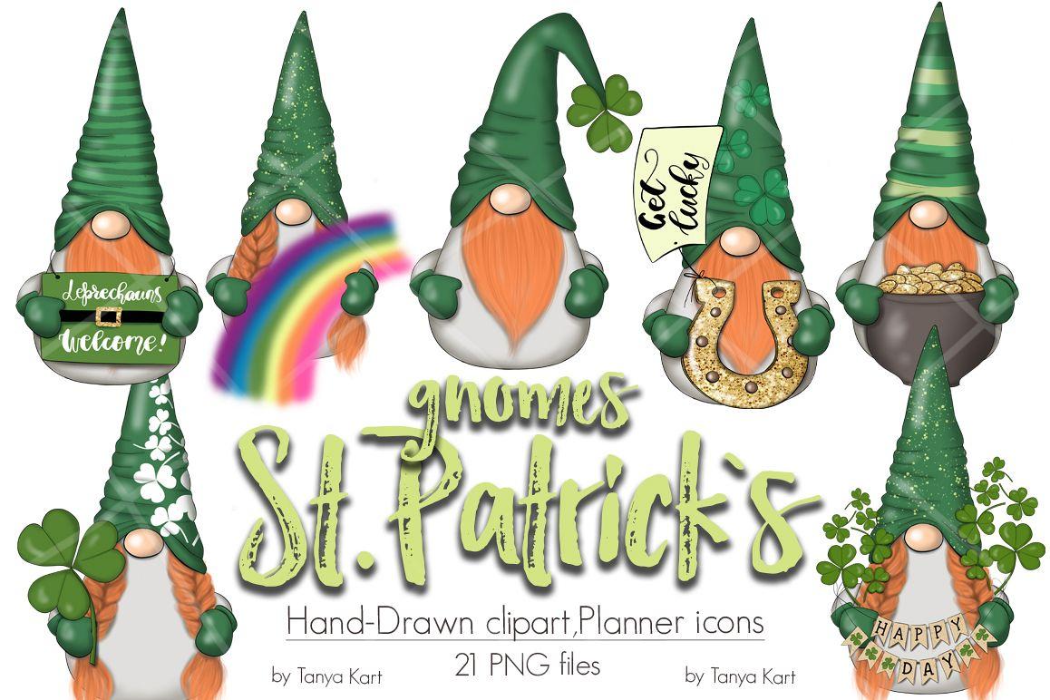 St. Patricks Gnomes Icons & Pattern example image 1