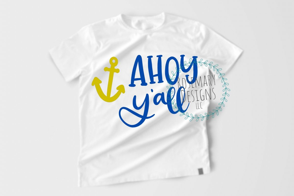 Ahoy Y'all Hand Lettered SVG example image 1