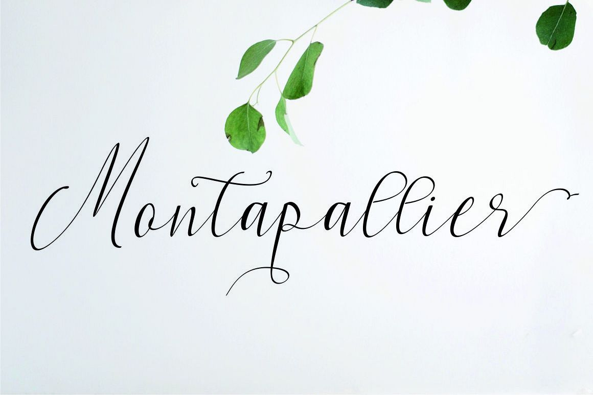 Montapallier script 2 style example image 1
