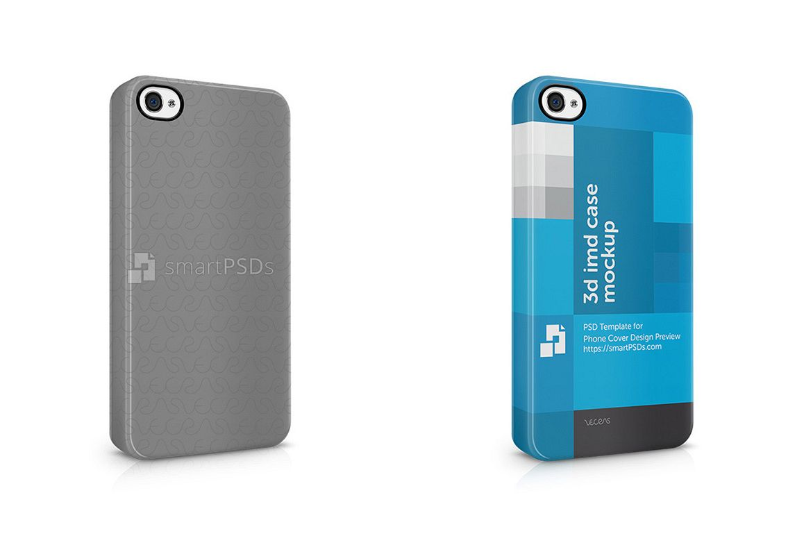 Apple iPhone 4 4s3d IMD Mobile Case Design Mockup-Right View- 2011 example image 1