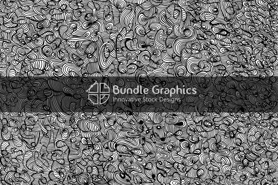 Abstract Linear Doodles - Handmade Ink Graphic Background example image 1