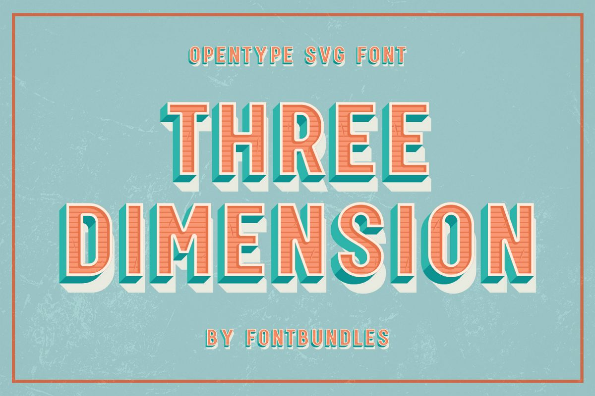Three Dimension - SVG Font example image 1