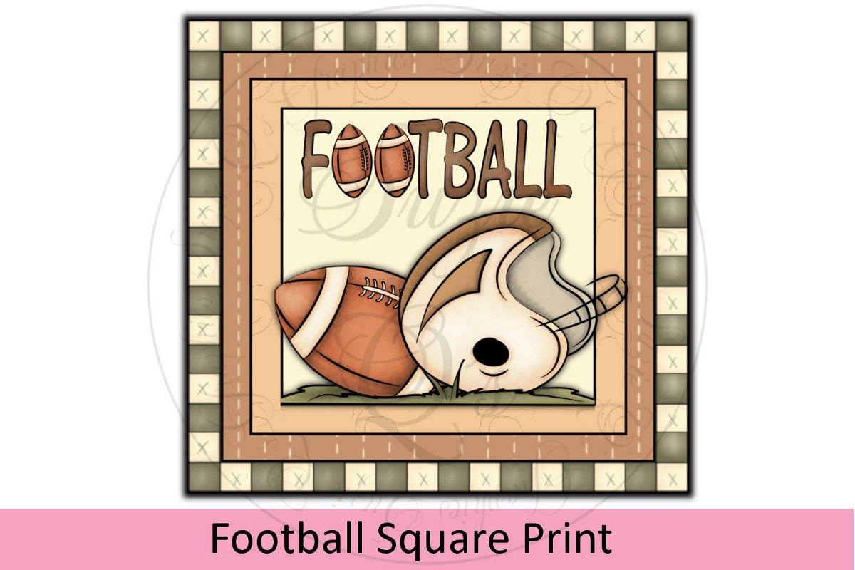 Football Square Print example image 1