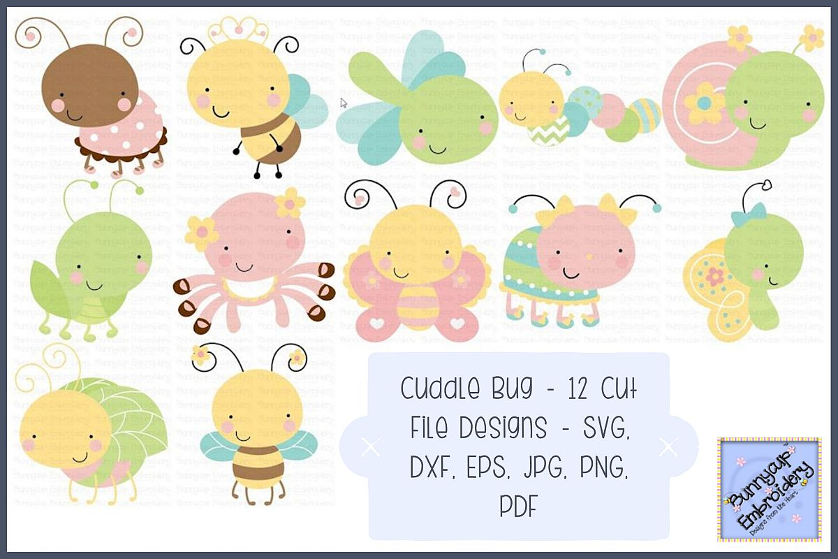 Cuddle Bug - SVG, Cut Files, Clipart, Printables example image 1