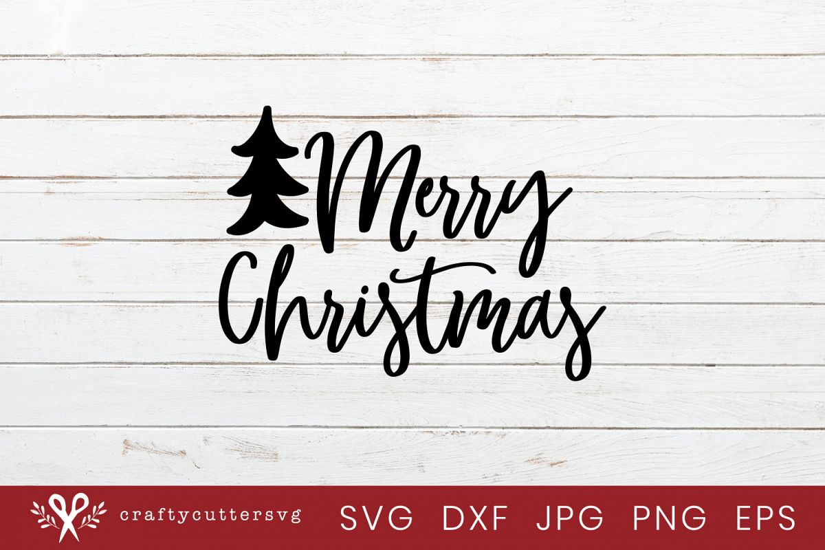 Christmas Ornaments Merry Christmas Tree Cut File example image 1