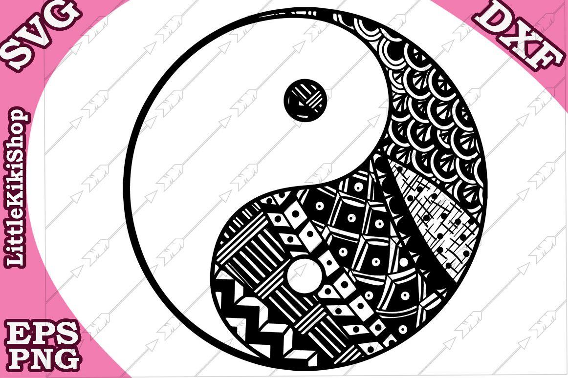 Yin Yang Svg Mandala Yin Yang Svg Yin Yang Tattoo Svg