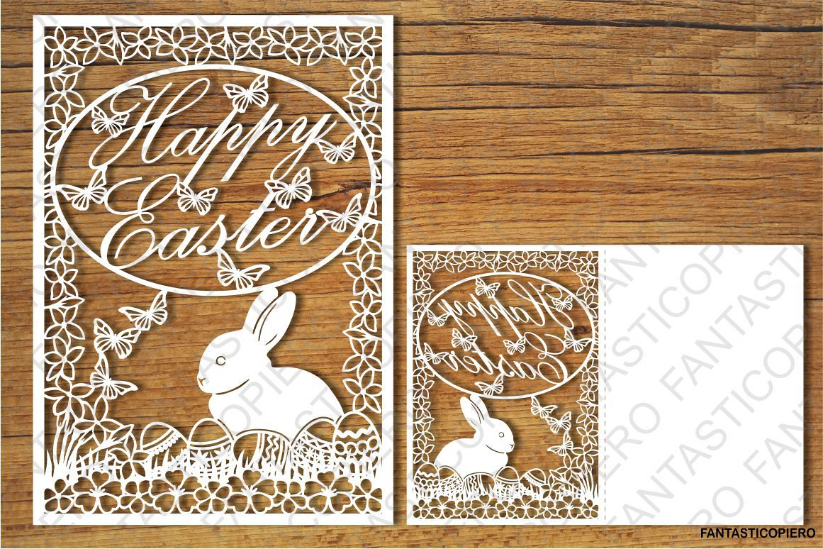 Happy Easter SVG files for Silhouette Cameo and Cricut. example image 1
