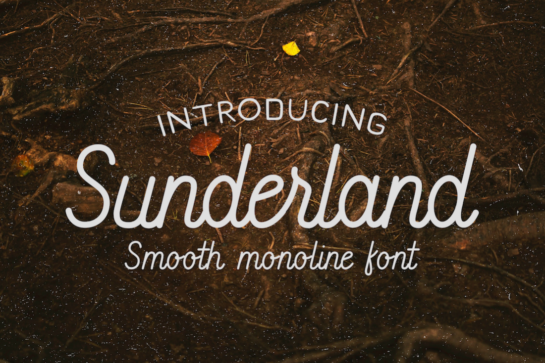 Sunderland - Smooth script font example image 1