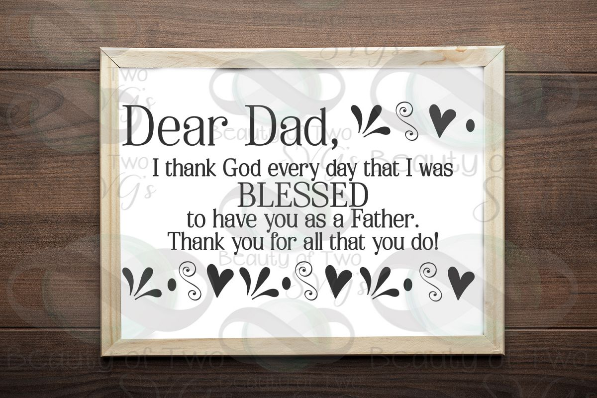 Fathers Day svg & png, Dear Dad svg, Christian Dad svg, example image 1