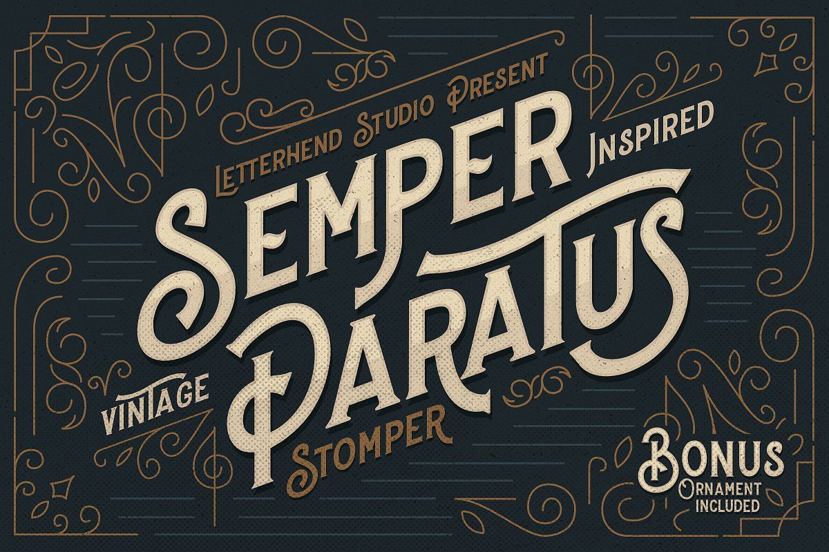 Stomper - A Vintage Display Font example image 1