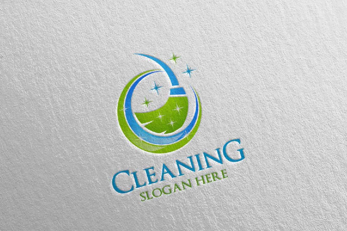 Cleaning Service Vector Logo example image 1