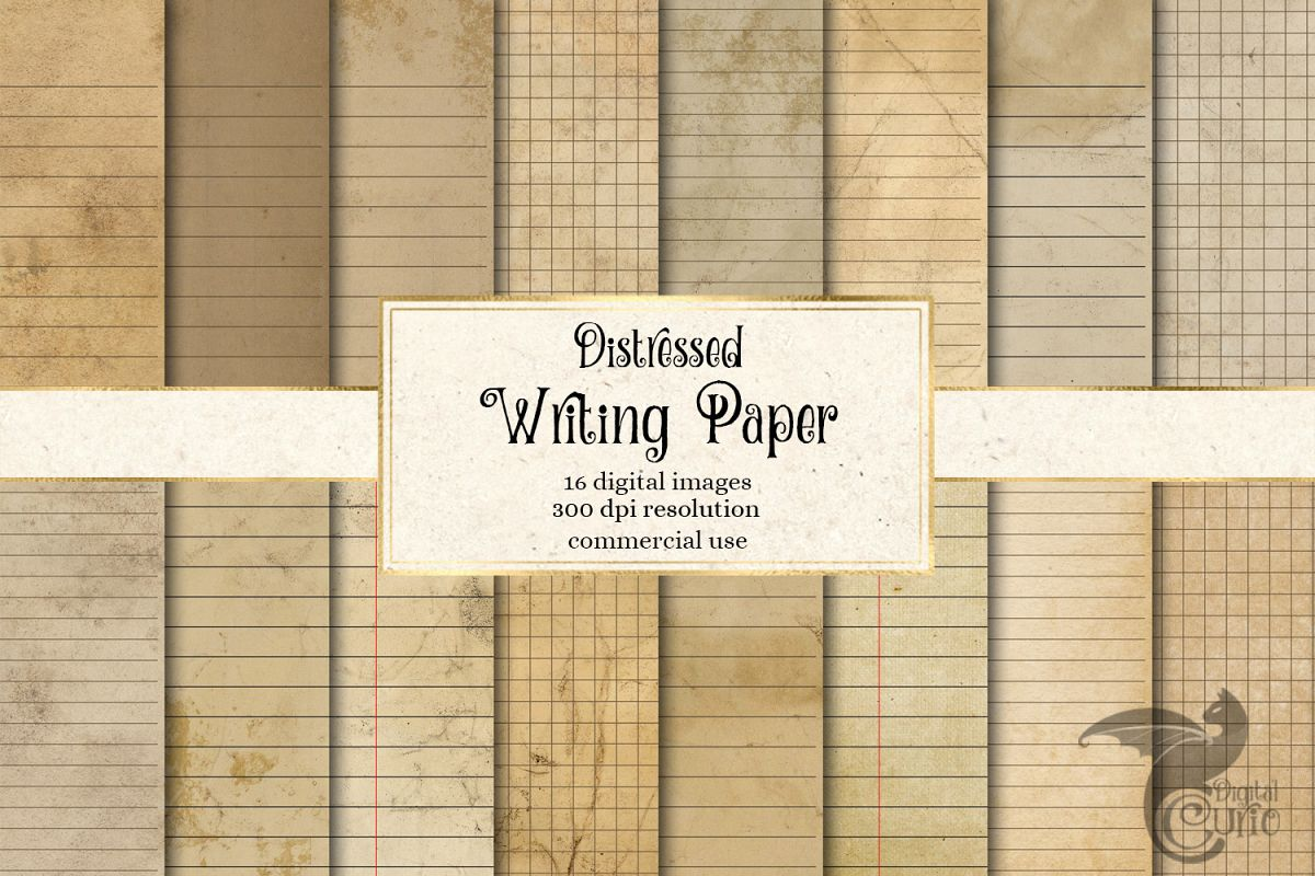 Distressed Writing Paper example image 1