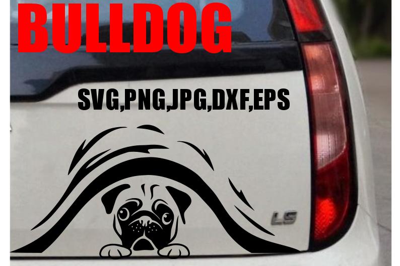live love bark bulldog 2 peeking svg e design bundles