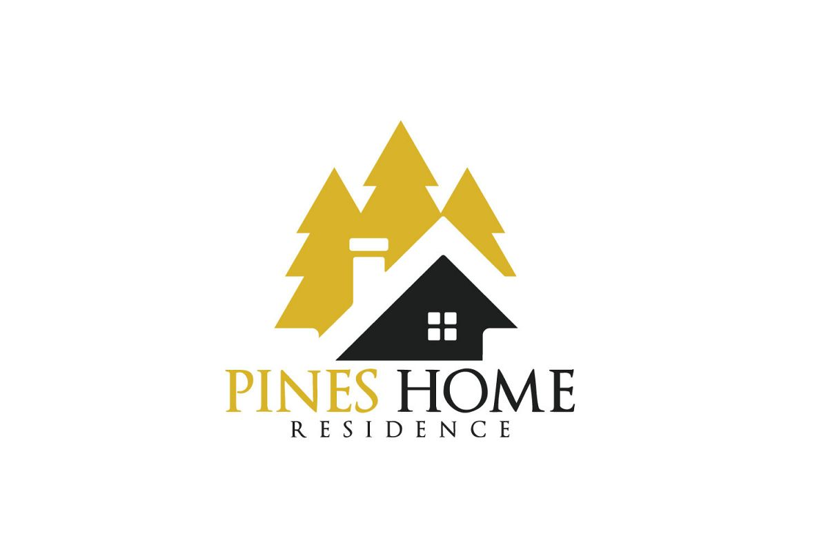 Pine Home Vector Logo Design. example image 1