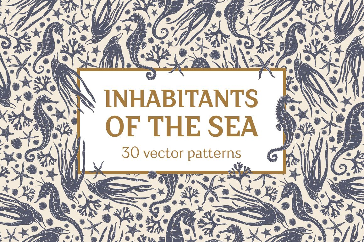 Inhabitants of the sea patterns example image 1