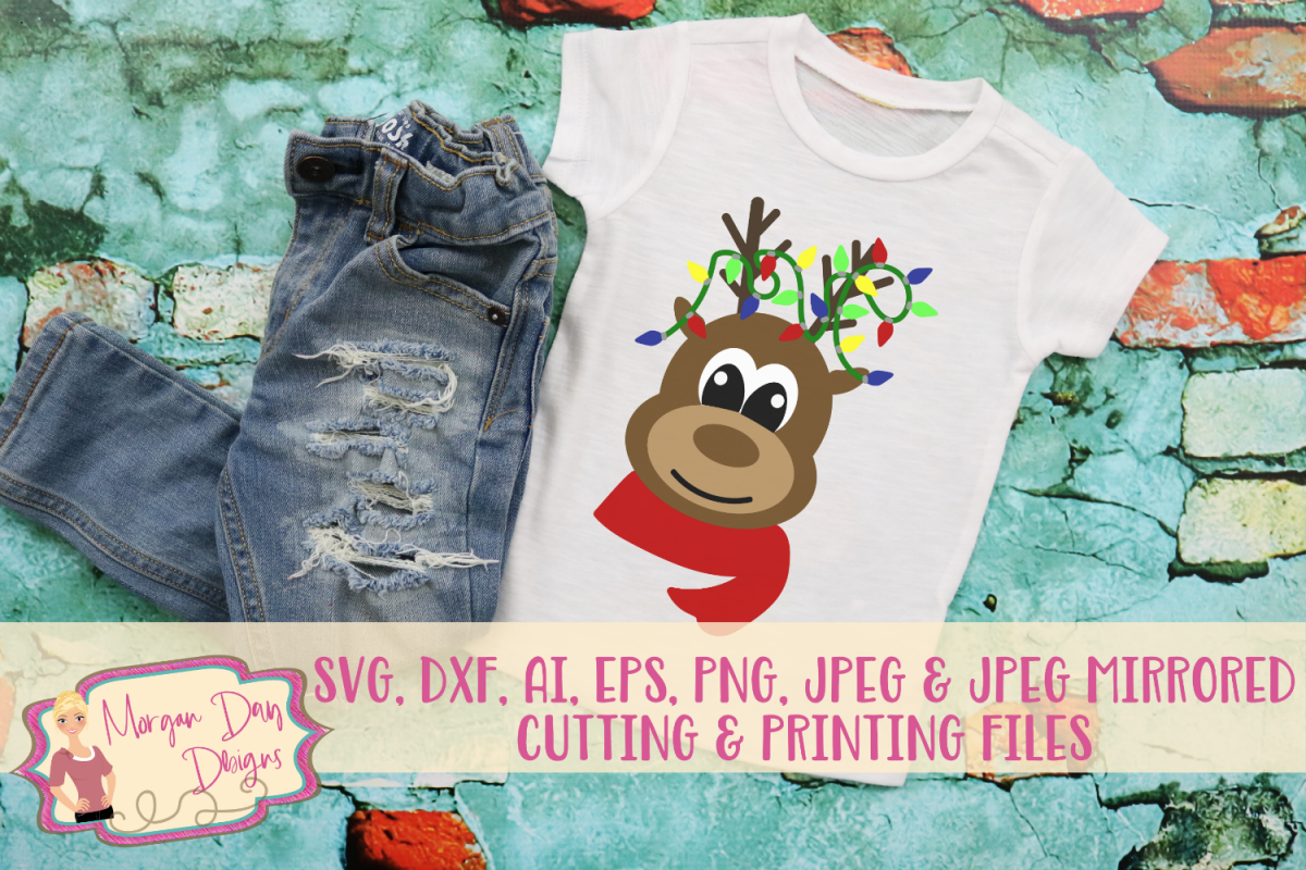 Reindeer SVG, DXF, AI, EPS, PNG, JPEG example image 1