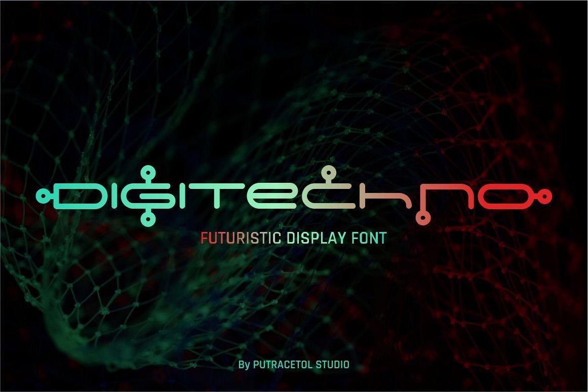 Digitechno - Futuristic Font example image 1