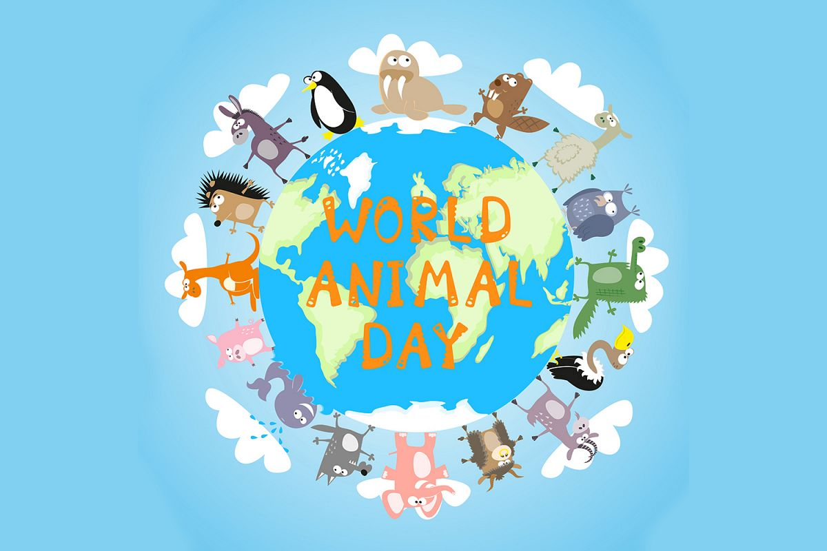 Banner: World animal day -1. Vector illustration example image 1
