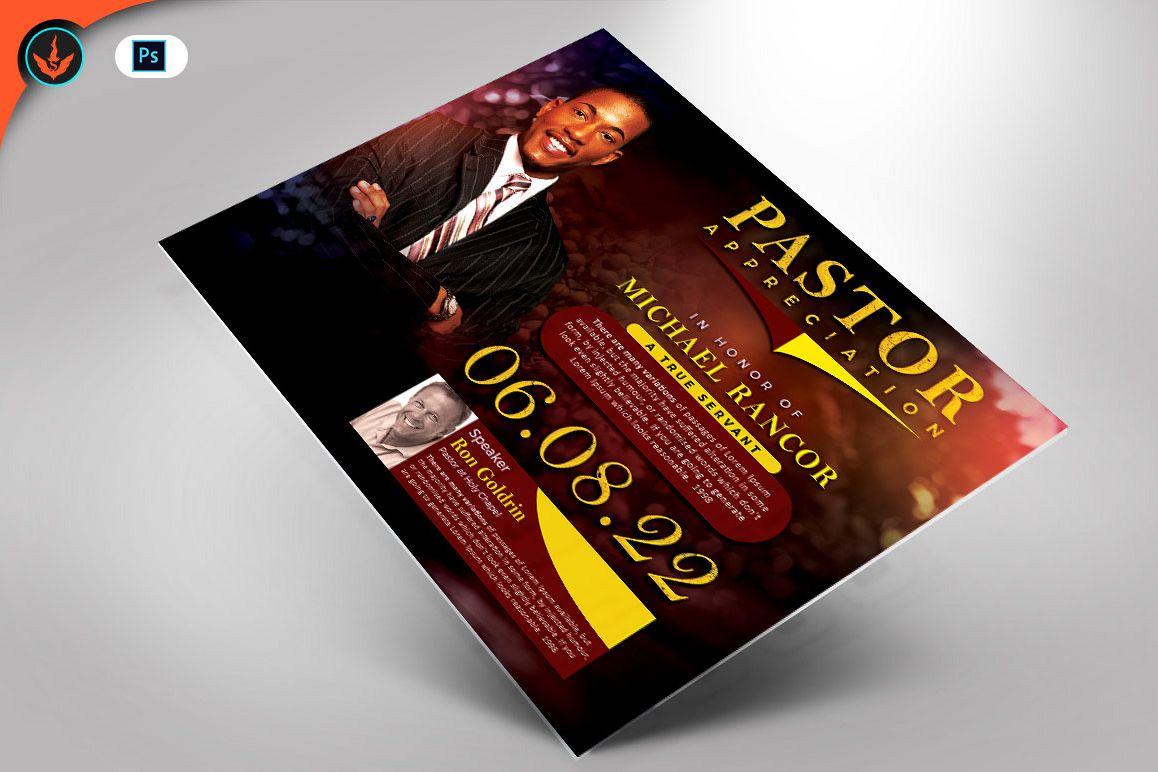 Pastors Appreciation Church Flyer Photoshop Template