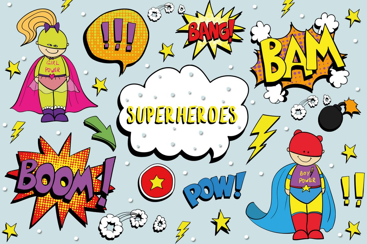Superheroes example image 1