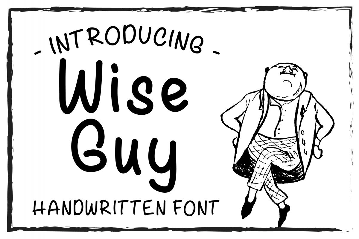 Wise Guy Sans Serif Font example image 1