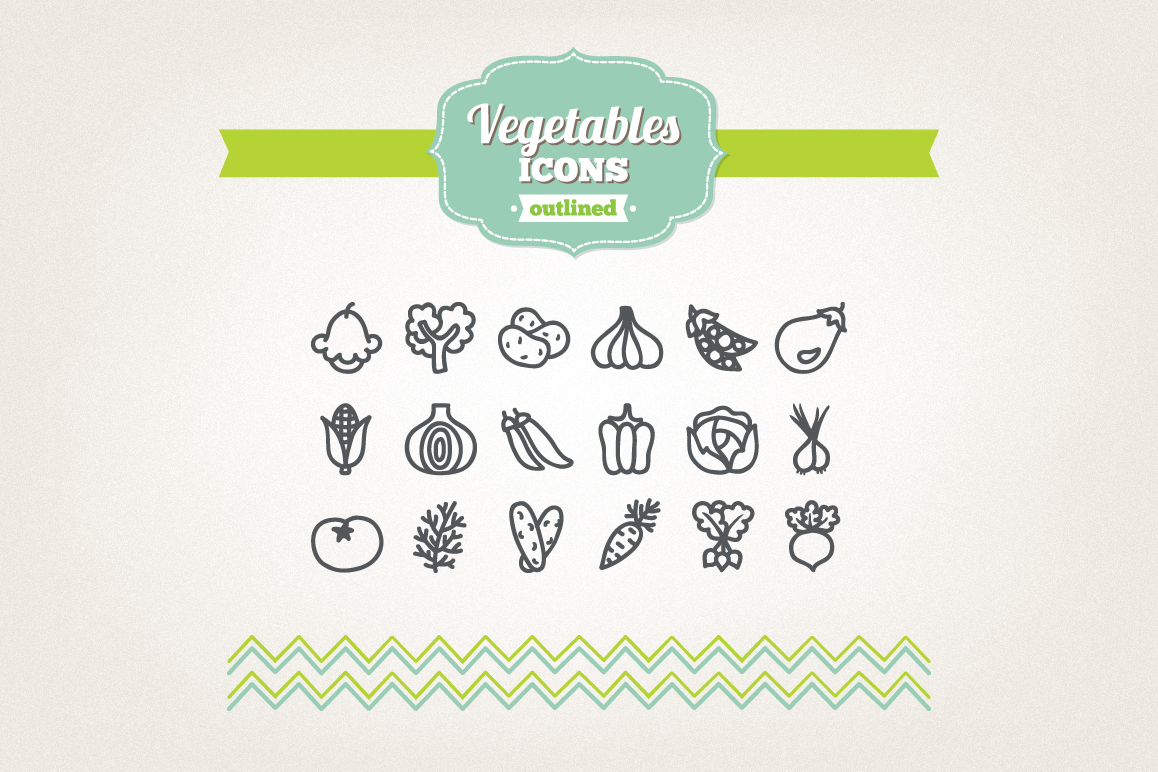 Hand Drawn Vegetables Icons example image 1