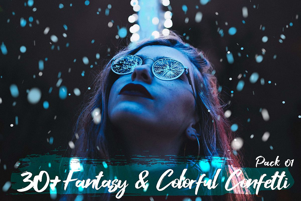Neo fantasy & Colorful Confetti Party overlay pack 1 example image 1