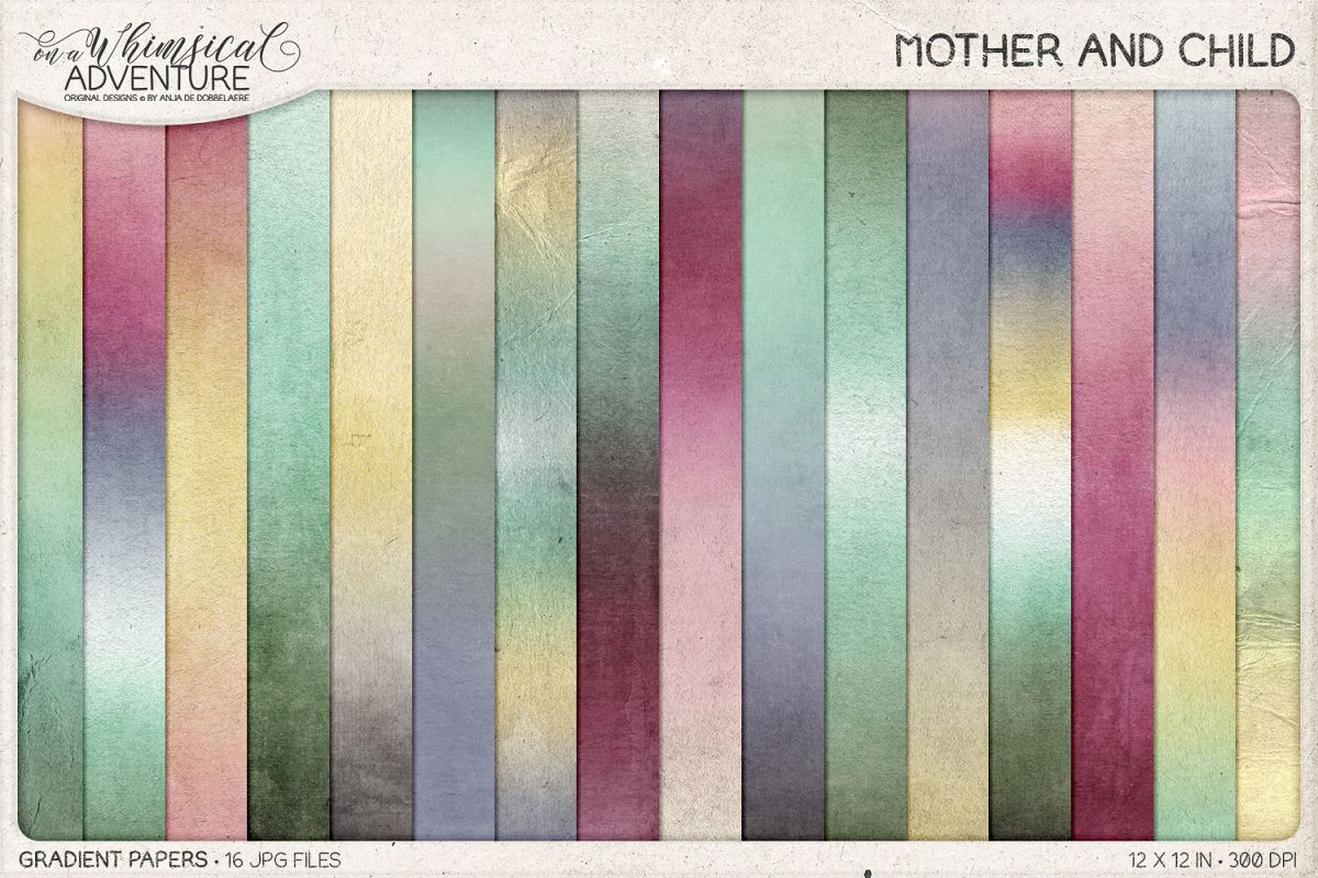 Mother And Child Gradient Papers example image 1