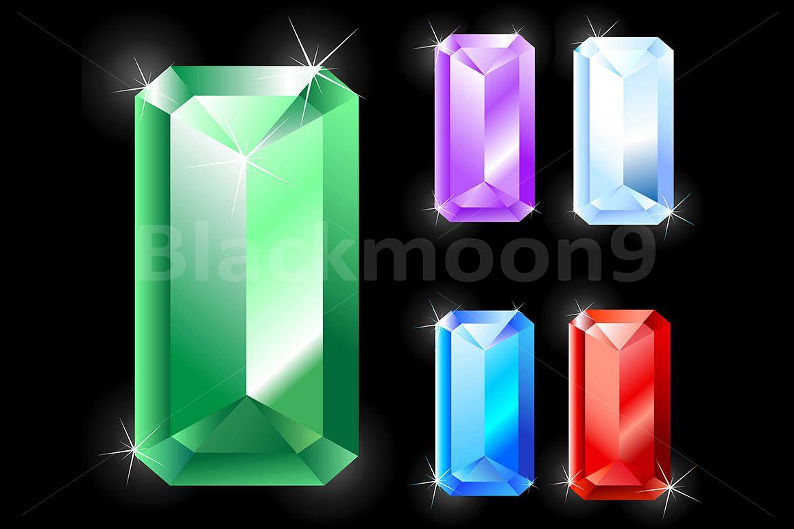 Rectangular Jewels gems example image 1
